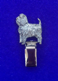Dog Show Breed Ring Number Clip - Affenpinscher - FULL BODY Silver or Gold Style